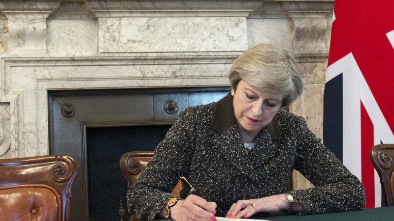 Theresa May signs article 50