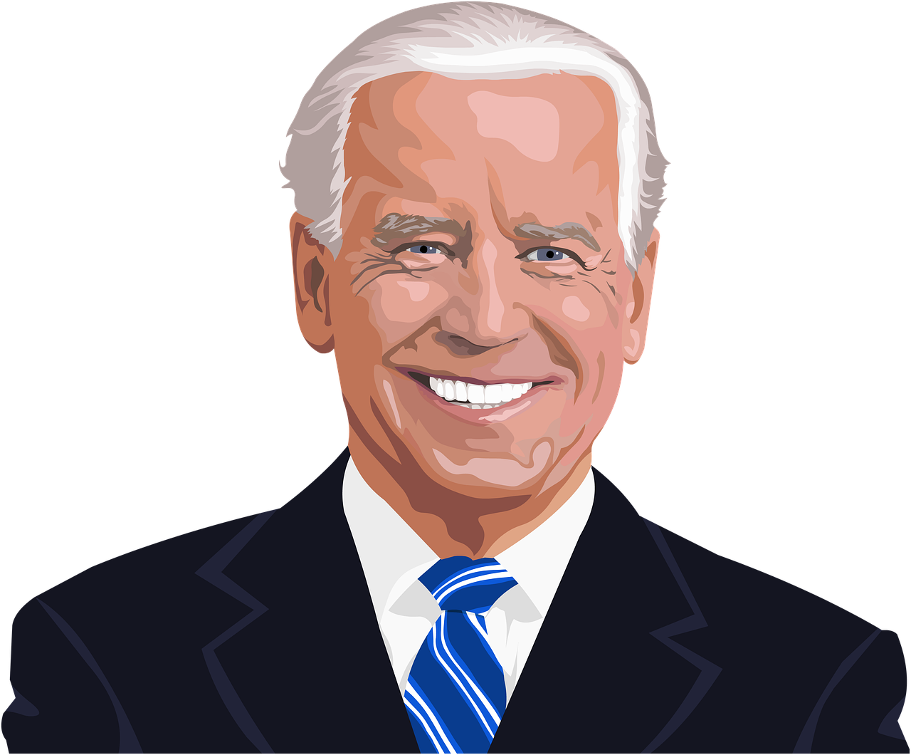 Smiling Joe Biden